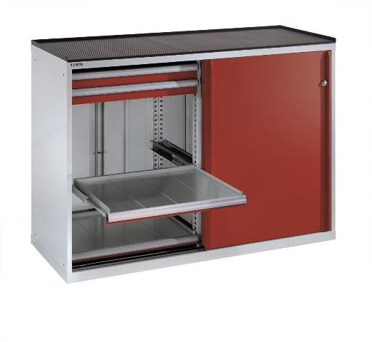 Sliding-door drawer cabinets