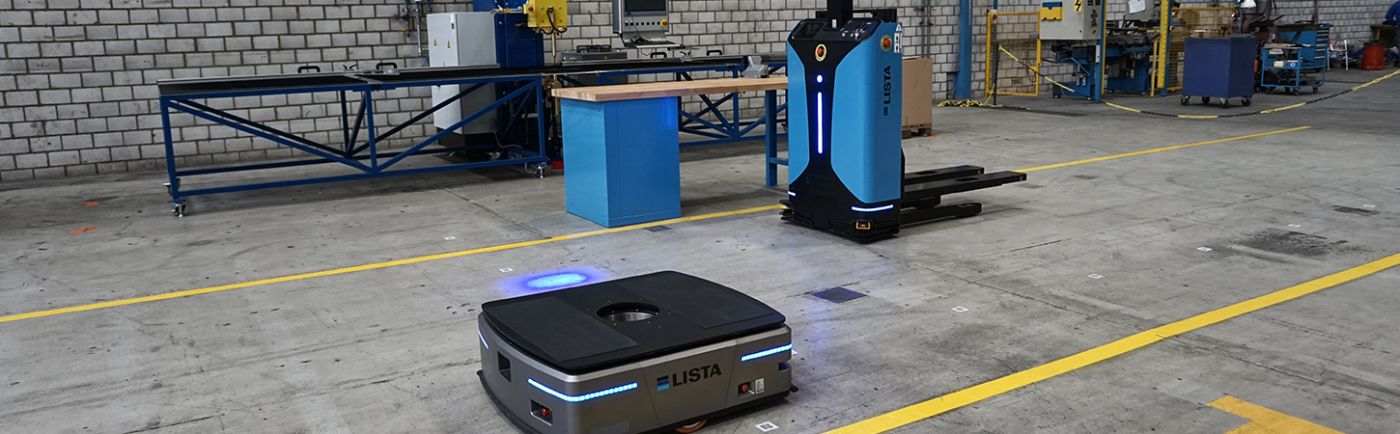 Storage lifts and automated guided vehicles (AGVs)