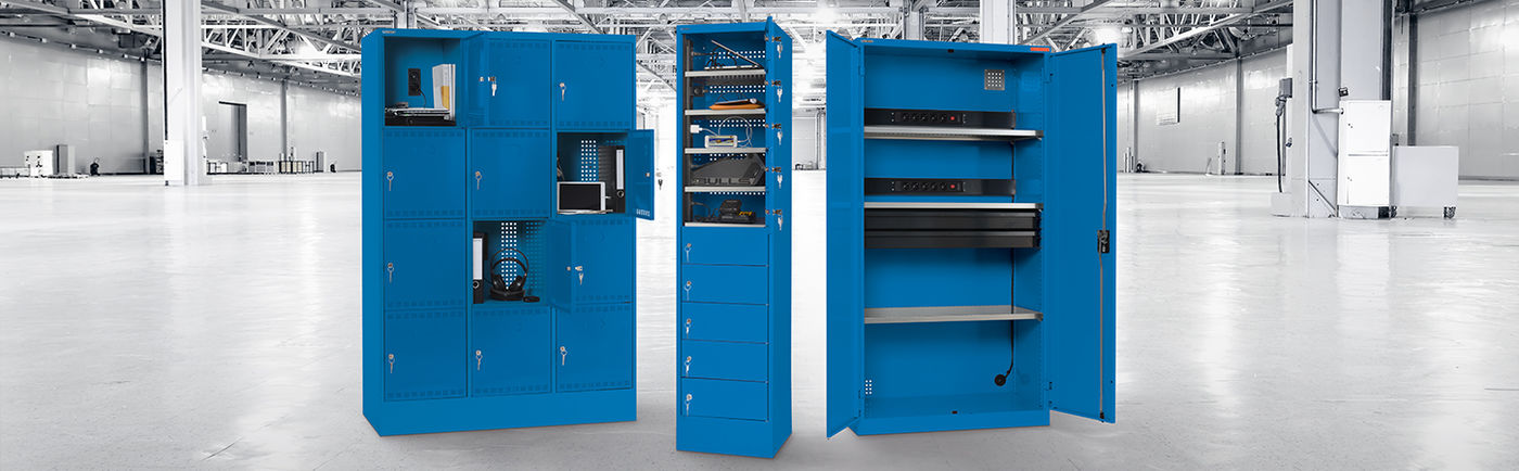 NEW: Battery charging cabinets
