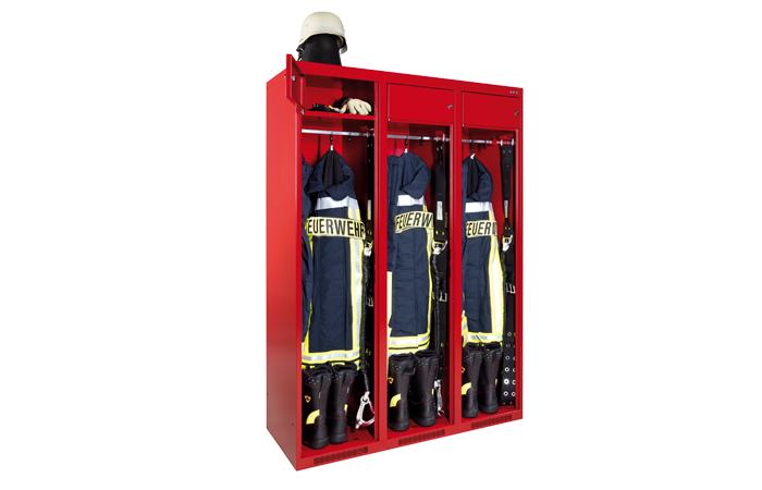 Firefighter lockers
