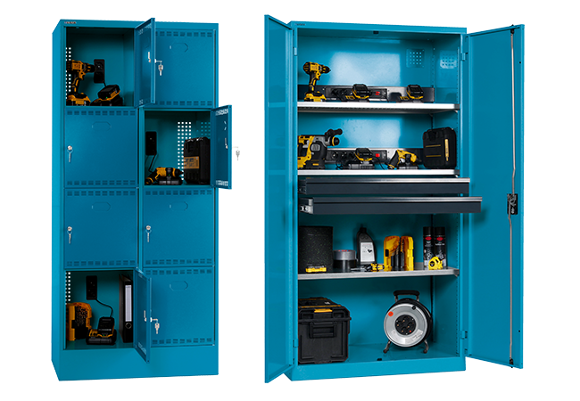 Battery charging cabinets